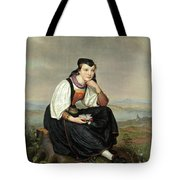 Girl From Hessen In Traditional Dress Tote Bag
