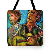 Girl From North Country Johnny Cash And Bob Dylab Tote Bag