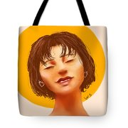 Girl From The Sun Tote Bag