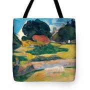 Girl Herding Pigs Tote Bag by Paul Gauguin
