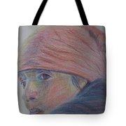 Girl In A Bandana Tote Bag