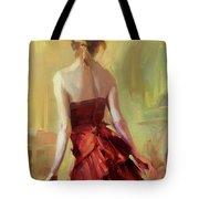Girl In A Copper Dress I Tote Bag