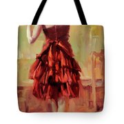 Girl In A Copper Dress IIi Tote Bag