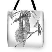 Girl, In Abstract Tote Bag