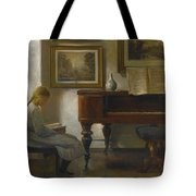 Girl In An Interior Tote Bag