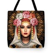 Girl In Bulgarian National Costume Tote Bag