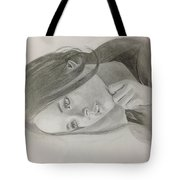 Girl In Deep Thoughts Tote Bag