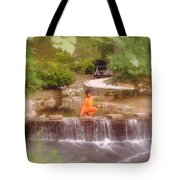 Girl In Orange Tote Bag