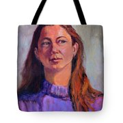 Girl In Purple Tote Bag