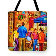 Girl In The Cafe Tote Bag by Carole Spandau