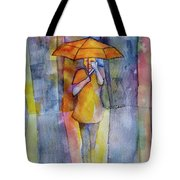 Girl In The City Tote Bag by Debbie Lewis