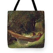 Girl In The Hammock Tote Bag