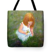 Girl In The Meadow Tote Bag