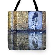 Girl In The Mural Tote Bag