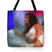 Girl In The Pool 1 Tote Bag