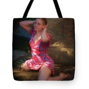 Girl In The Pool 10 Tote Bag