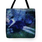 Girl In The Pool 12 Tote Bag