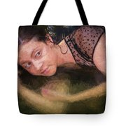 Girl In The Pool 13 Tote Bag