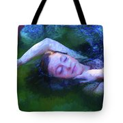 Girl In The Pool 20 Tote Bag