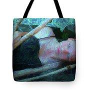 Girl In The Pool 23 Tote Bag