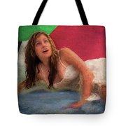 Girl In The Pool 3 Tote Bag