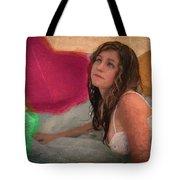 Girl In The Pool 4 Tote Bag