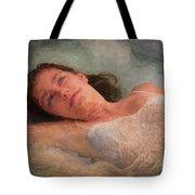 Girl In The Pool 8 Tote Bag