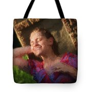 Girl In The Pool 9 Tote Bag