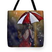 Girl In The Rain  Tote Bag