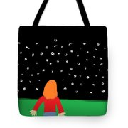 Girl In The Starry Night Tote Bag