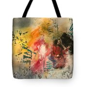 Girl In Time Tote Bag