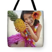 Girl In Tropical Paradise Tote Bag by Brandon Tabiolo - Printscapes