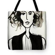 Girl In Vest Tote Bag