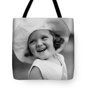 Girl In Wide Brimmed Hat, C.1930s Tote Bag