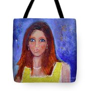 Girl In Yellow Dress Tote Bag