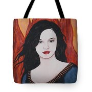 Girl Of Fire Tote Bag