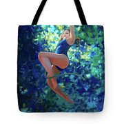 Girl On A Rope Tote Bag
