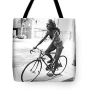 Girl On Bike Sculpture Grand Junction Co Tote Bag