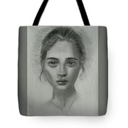 Girl On Canvas Tote Bag