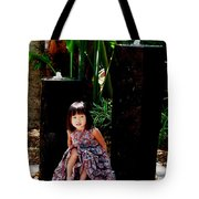 Girl On Rocks Tote Bag