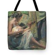 Girl Playing Domra  Tote Bag