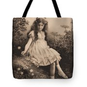 Girl Portrait Tote Bag