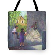 Girl Reading A Letter Tote Bag