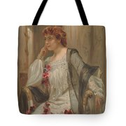 Girl - Sensuousness - Beauty - Vintage - Wall Art - Art Print - Serenity - Flowers Tote Bag