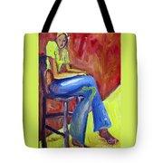 Girl Sitting Tote Bag