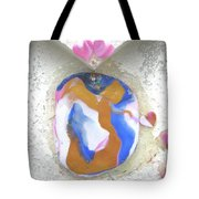 Girl Spreading Hearts Tote Bag