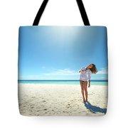 Girl Under The Sunshine Tote Bag