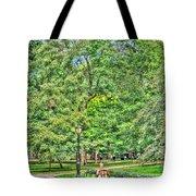 Girl Uninterrupted In Central Park Tote Bag
