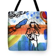 Girl With A Bat Tote Bag