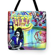 Girl With A Dragon Tote Bag